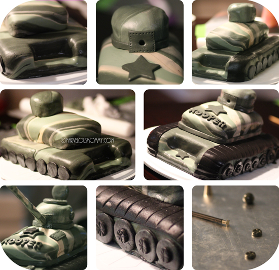 army tank cake tutorial