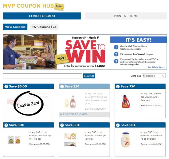 Food Lion MVP Coupon Hub