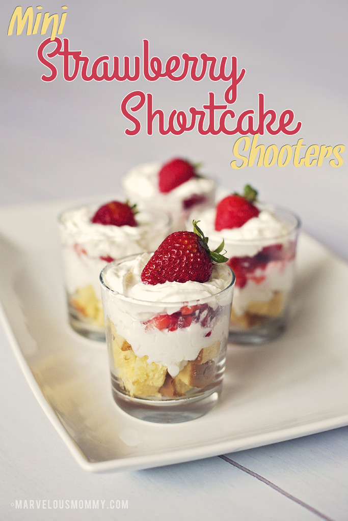 Mini Strawberry Shortcake Shooters