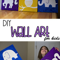 DIY Canvas Wall Art for Kids