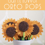 Sunflower Oreo Pops