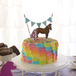 Horse Party Birthday Cake